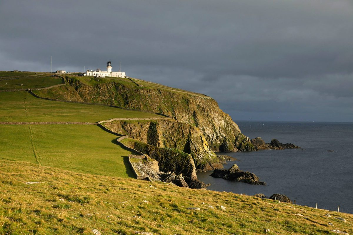Sumburgh Head and lighthouse, Mainland, Shetland.
