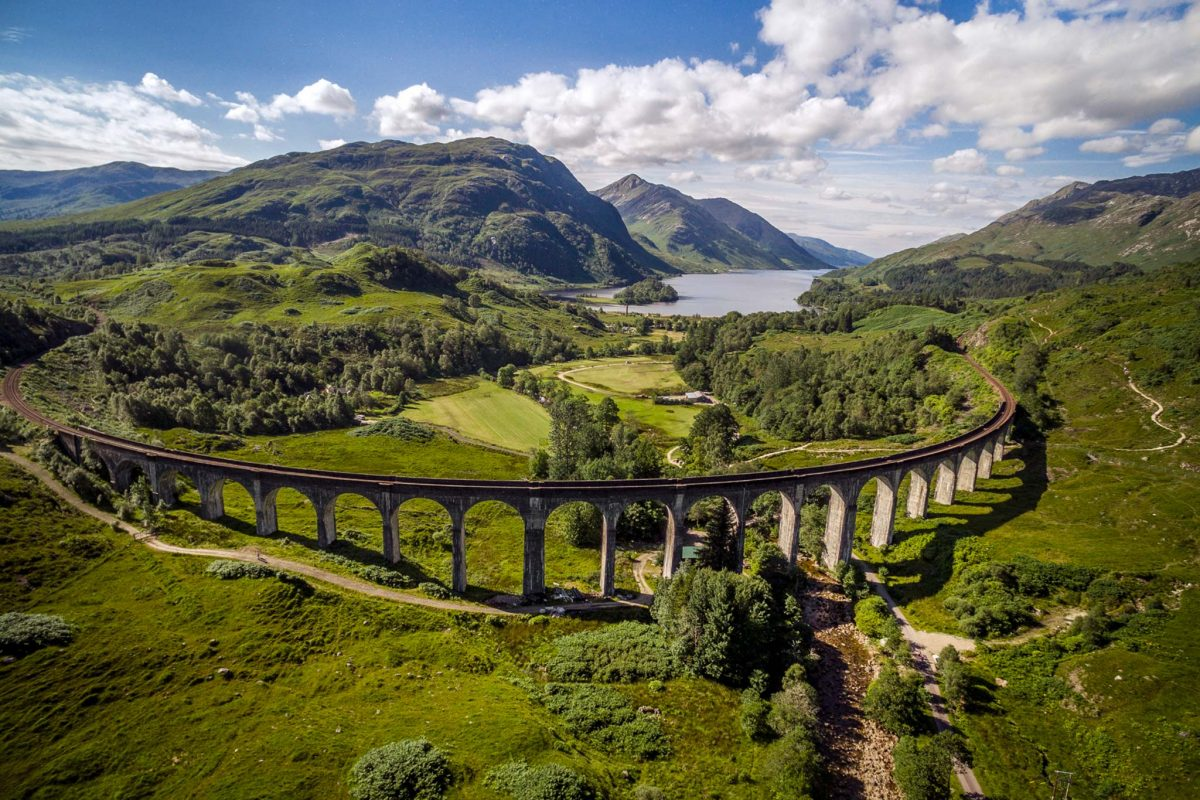 The Glenfinnan Viaduct on the West Highland Line