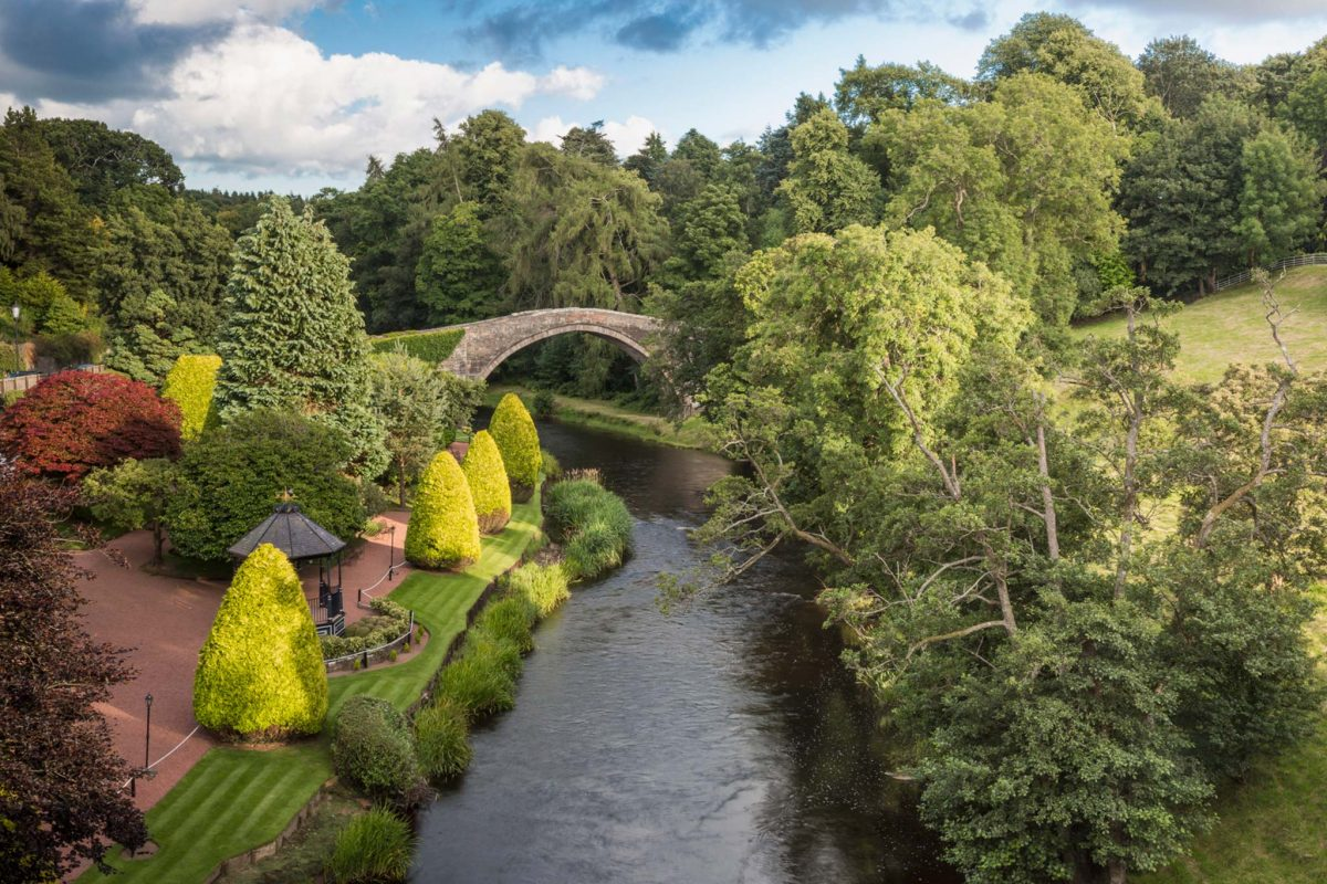 The Brig o' Doon in Alloway made famous in Robert Burns' poem, Tam o' Shanter