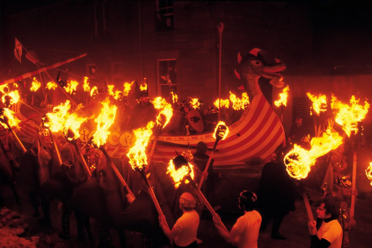 Processione dell'Up Helly Aa, Lerwick, Shetland