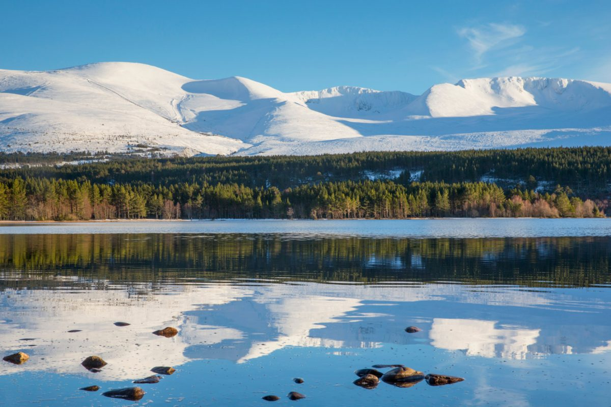 Loch Morlich in the Cairngorms National Park