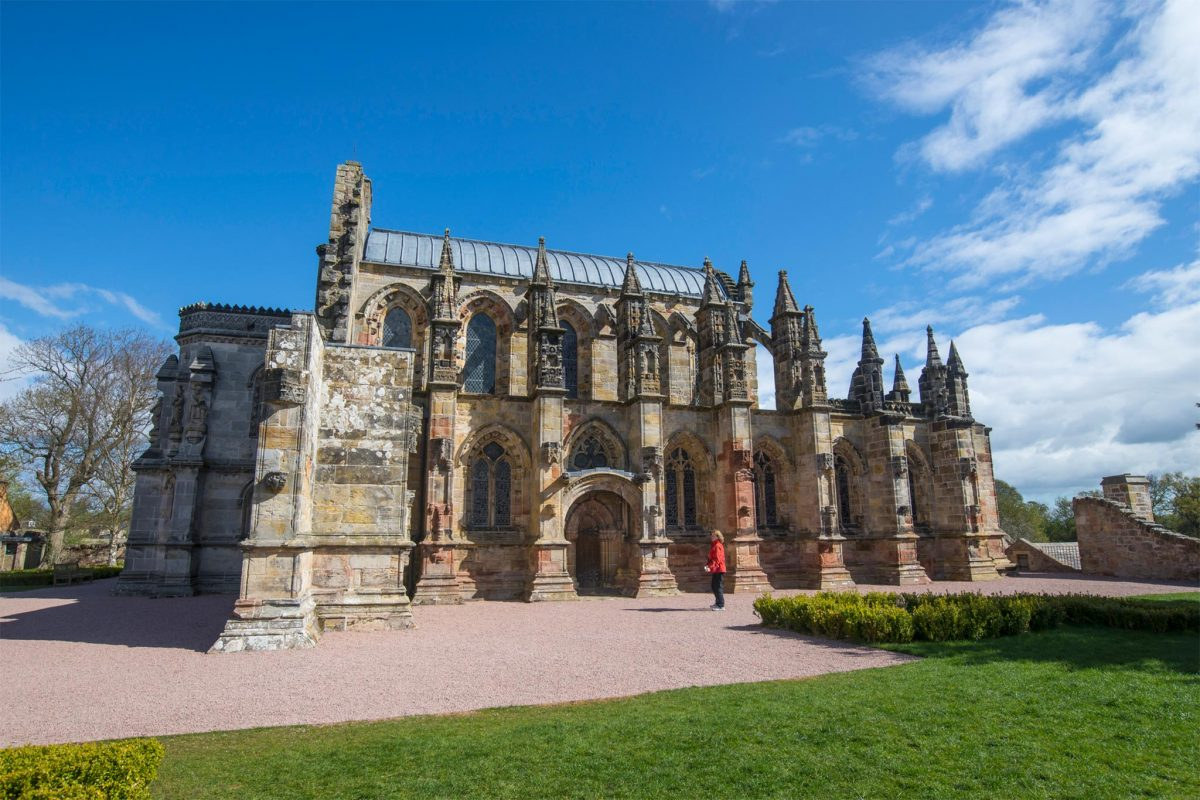 Rosslyn Chapel, Roslin, bei Edinburgh