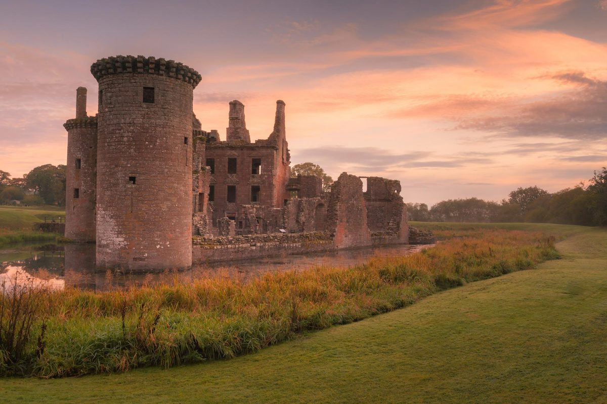 Caerlaverock Castle situated near the town of Dumfries.