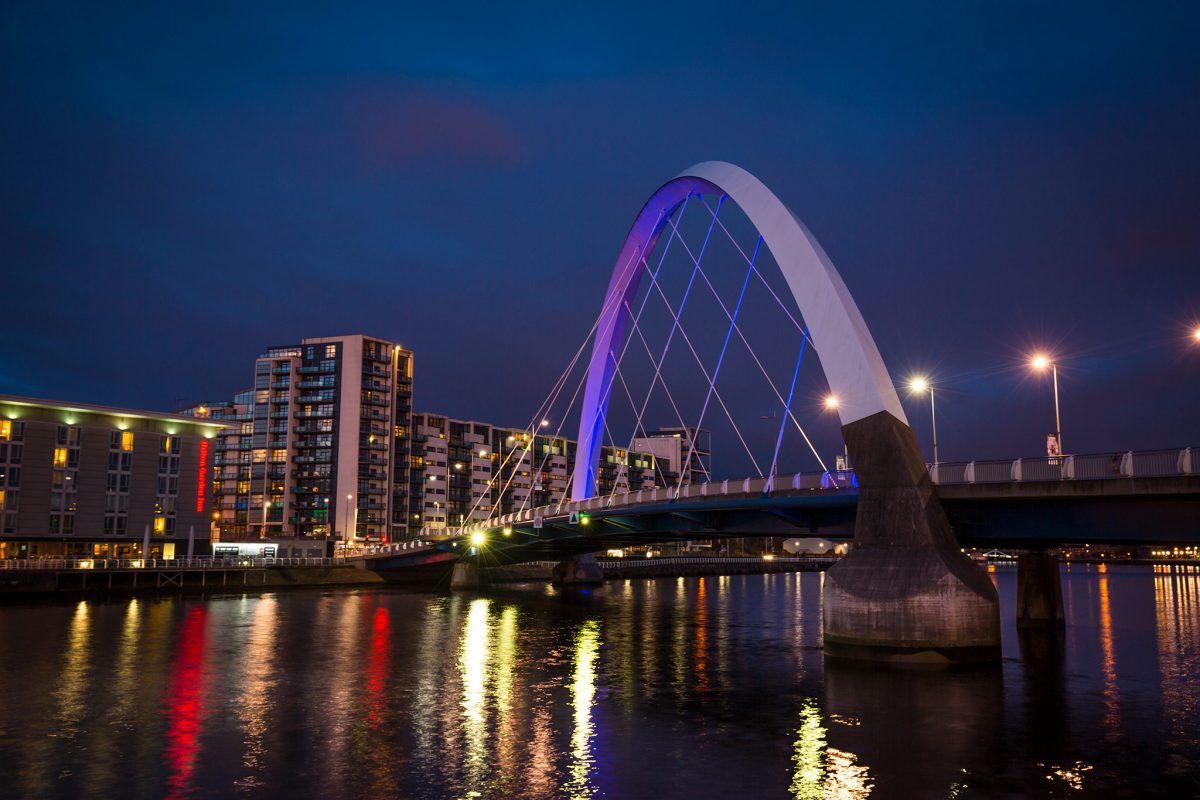 The Clyde Arc connects Govan road to the city centre, Glasgow.