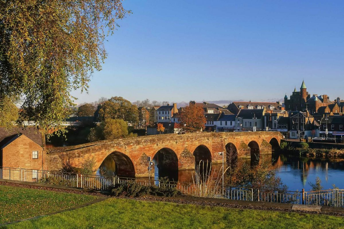 Devorgilla Bridge over the River Nith, Dumfries