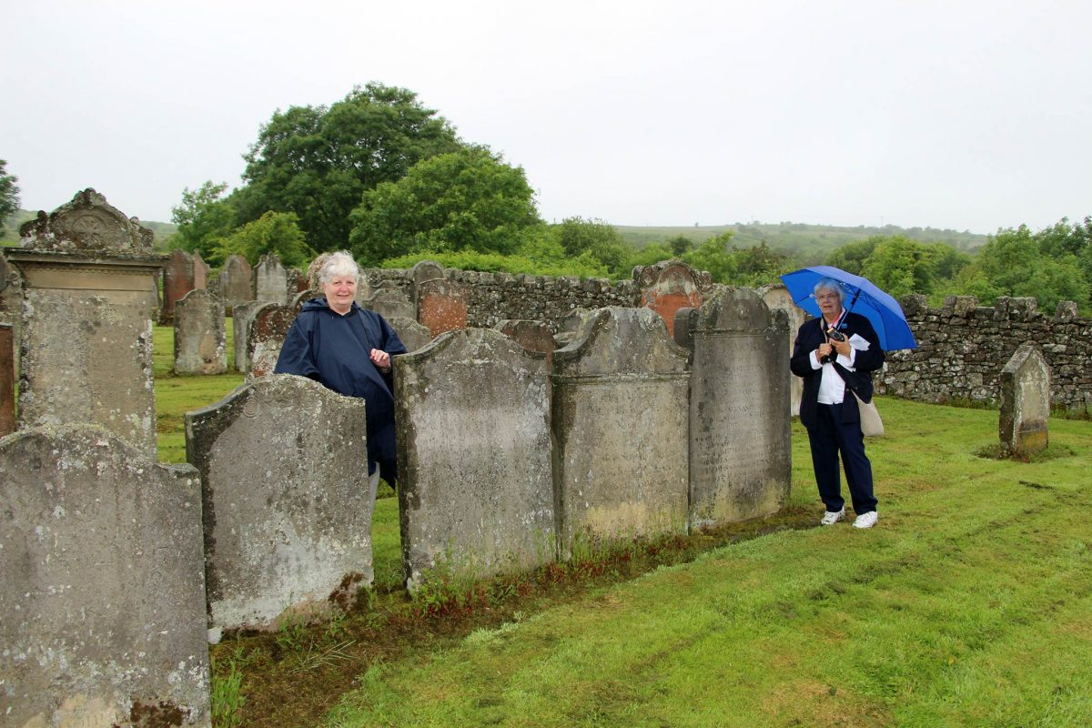 Janet and Libby at Ettleton Cemetery