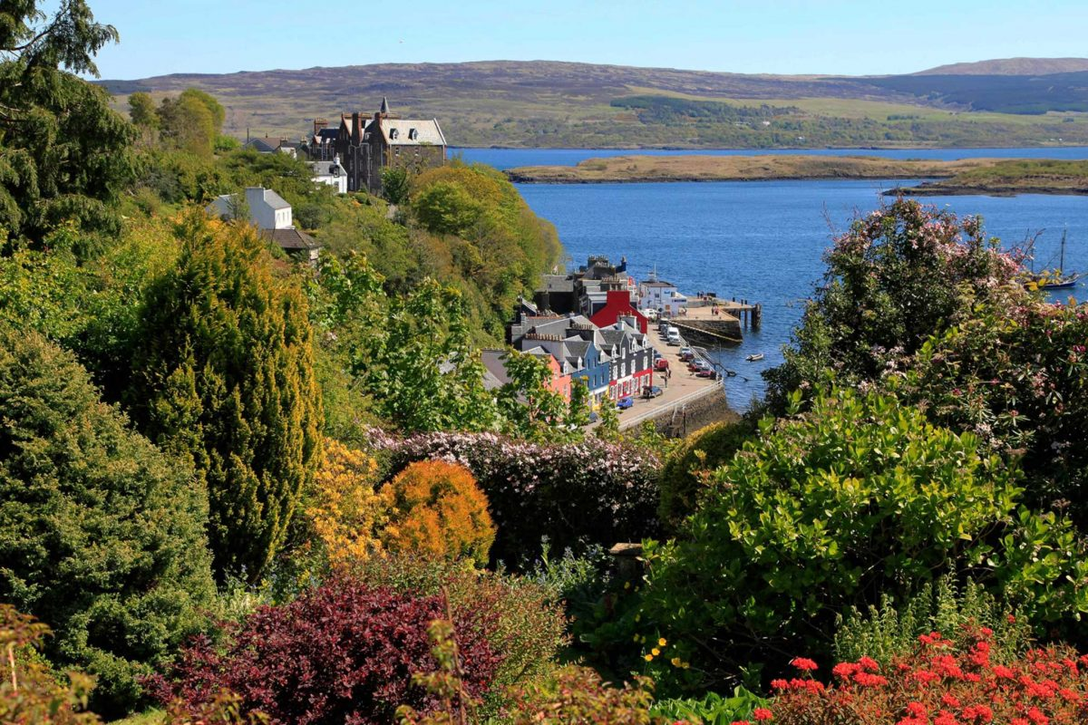 View of Tobermory on the Isle of Mull