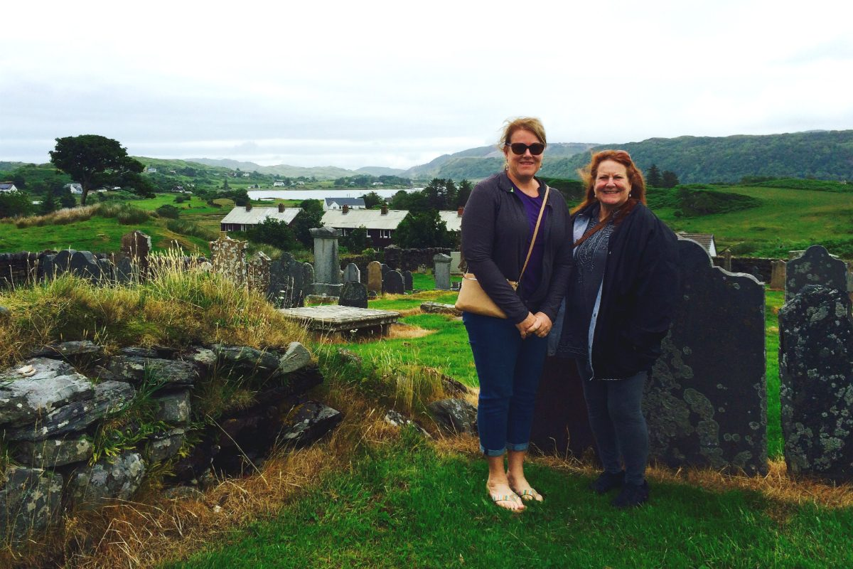 Mary and Virginia on the Isle of Seil
