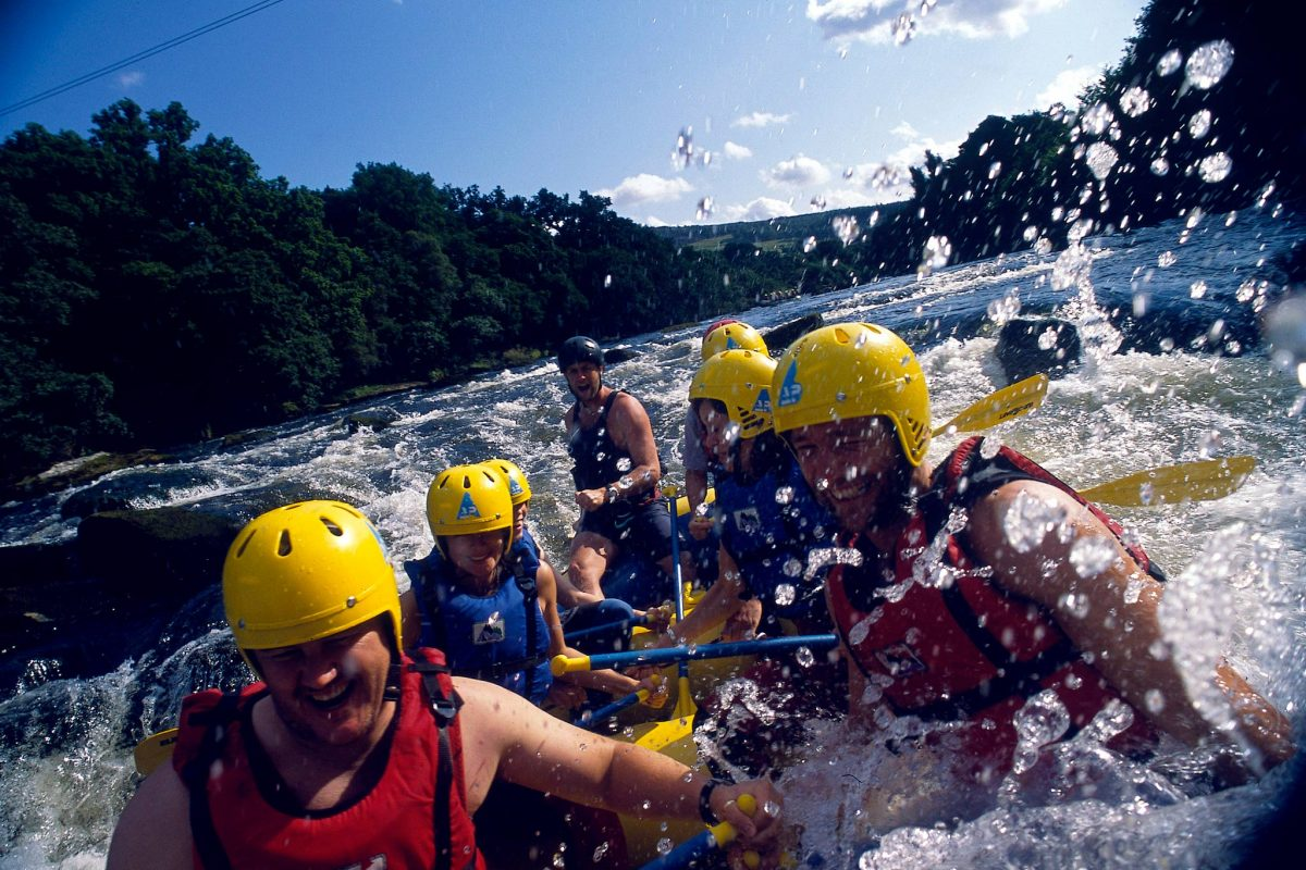 White water rafting, Perthshire