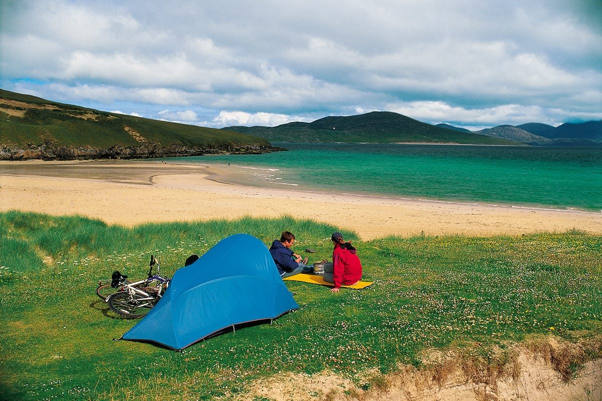 Wild camping on Isle of Harris, Outer Hebrides