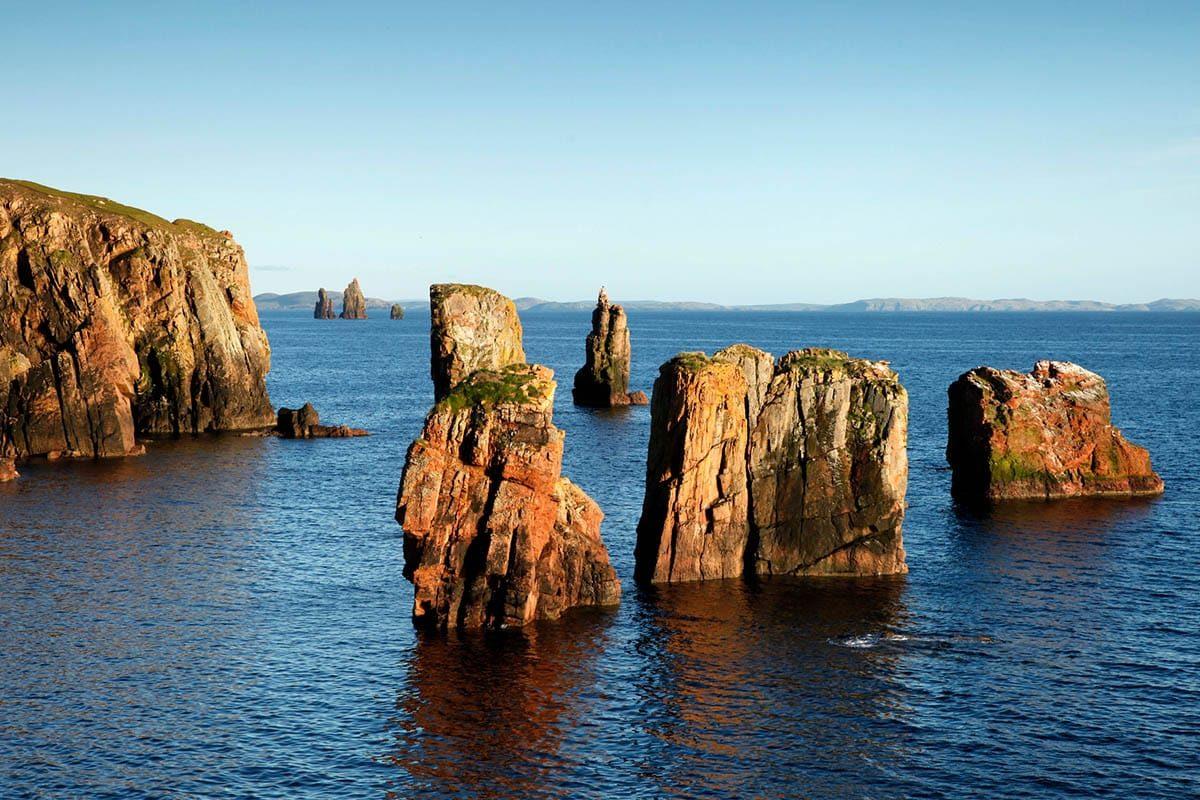 Falaises à Braewick, Shetland