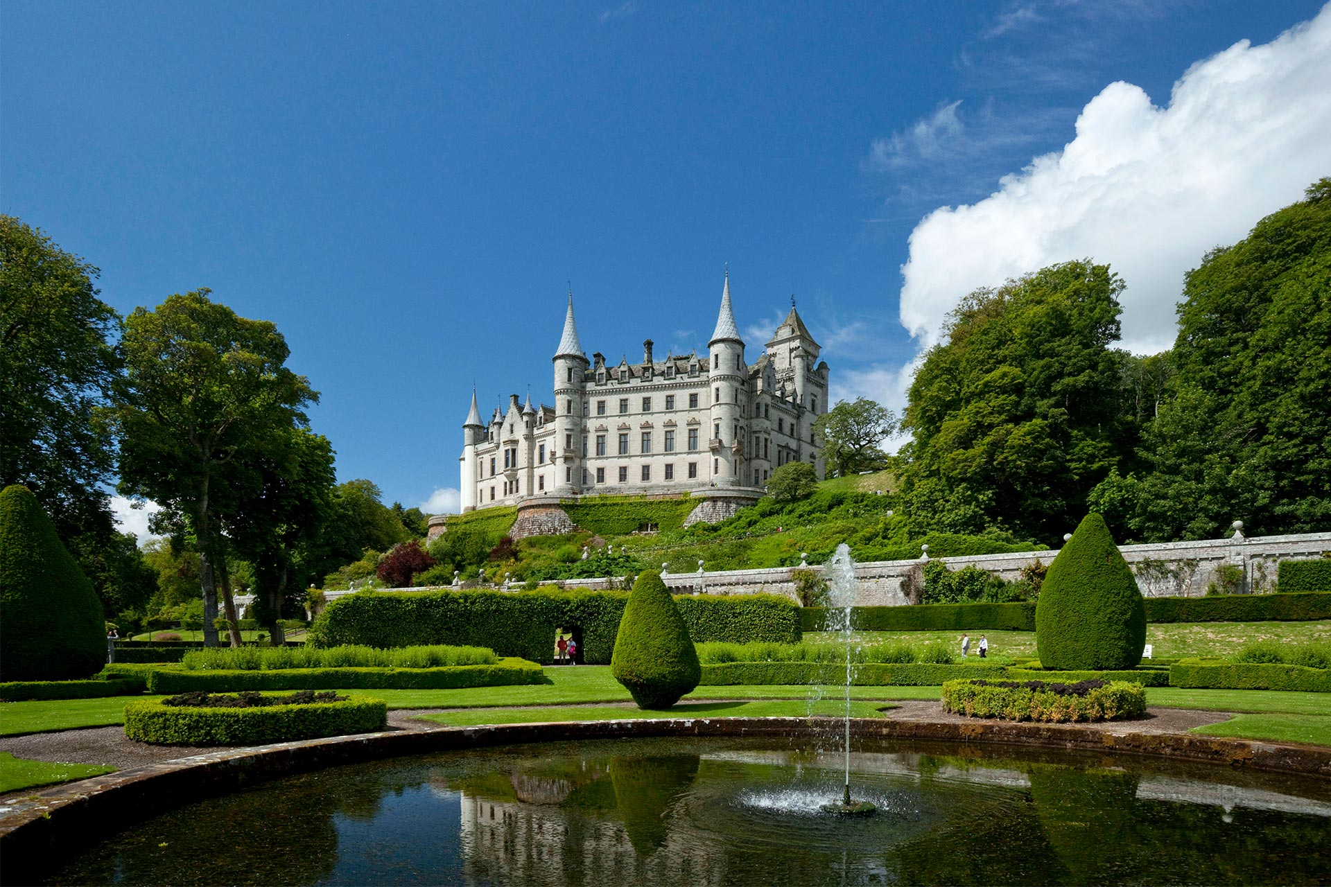 Dunrobin Castle, near Golspie, Sutherland in the Highlands