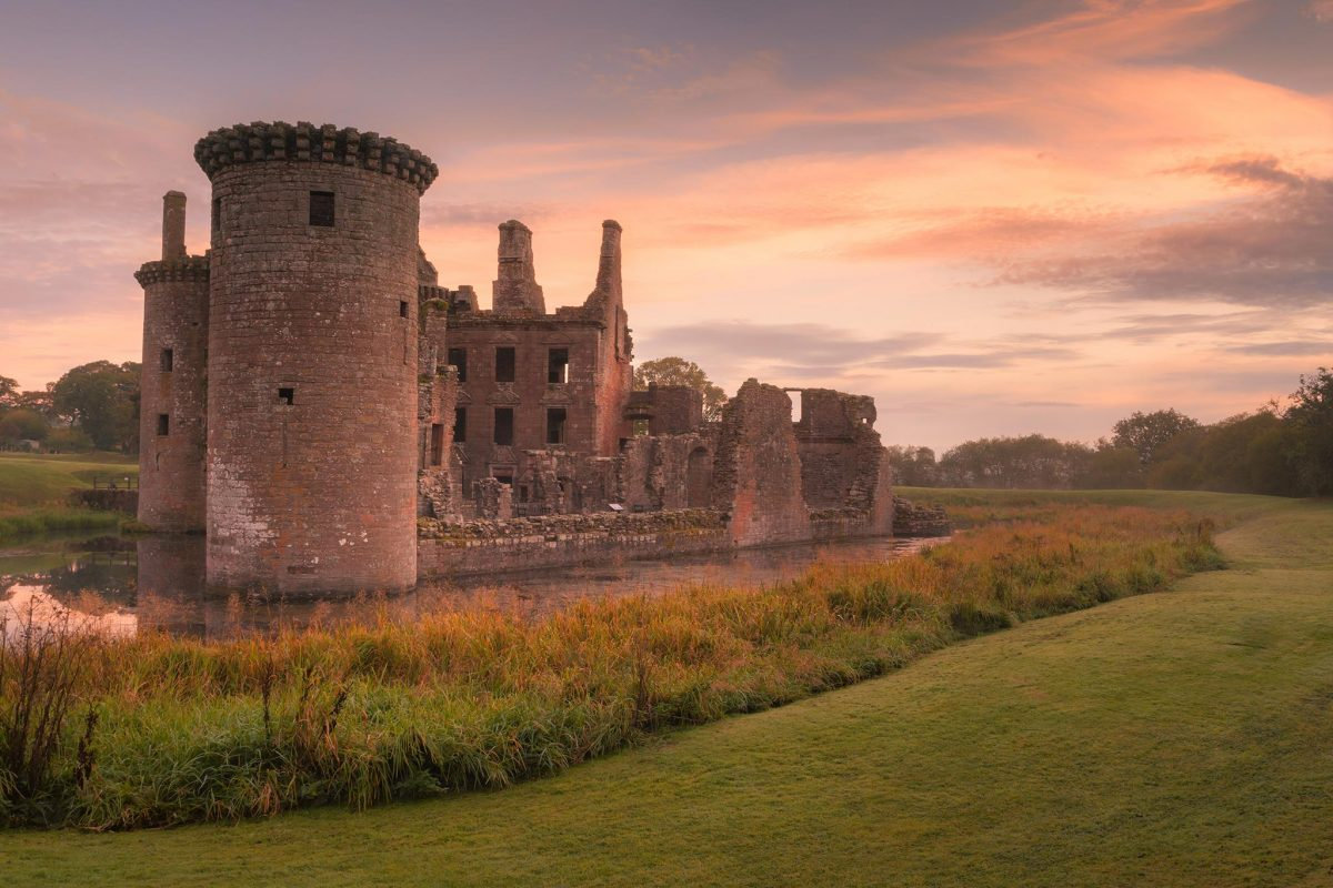 Caerlaverock Castle near Dumfries