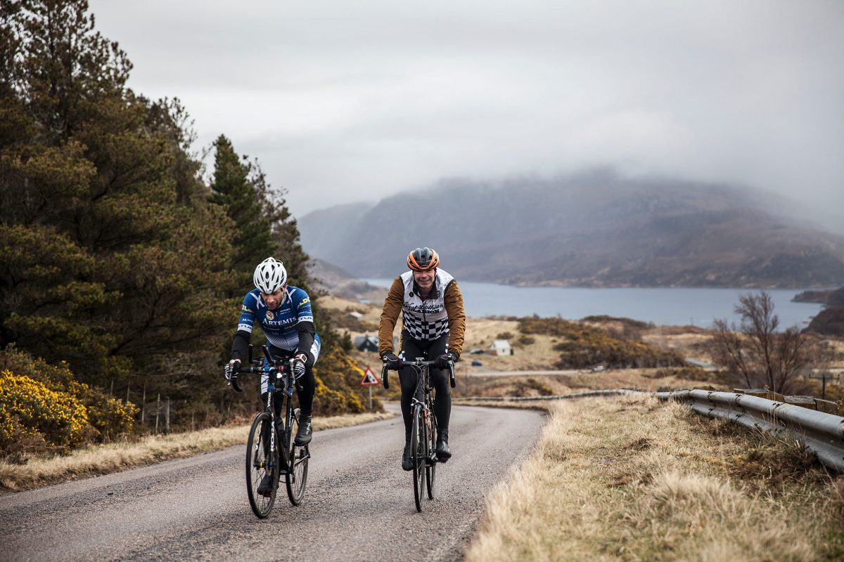 Mark Beaumont on the road on his cycling tour of Britain © Mark Beaumont/Muckle Media