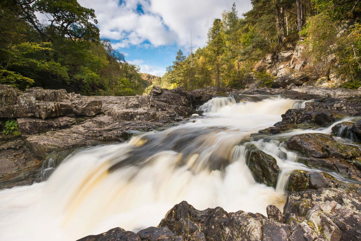 The Linn of Tummel where you can enjoy a beautiful circular woodland walk