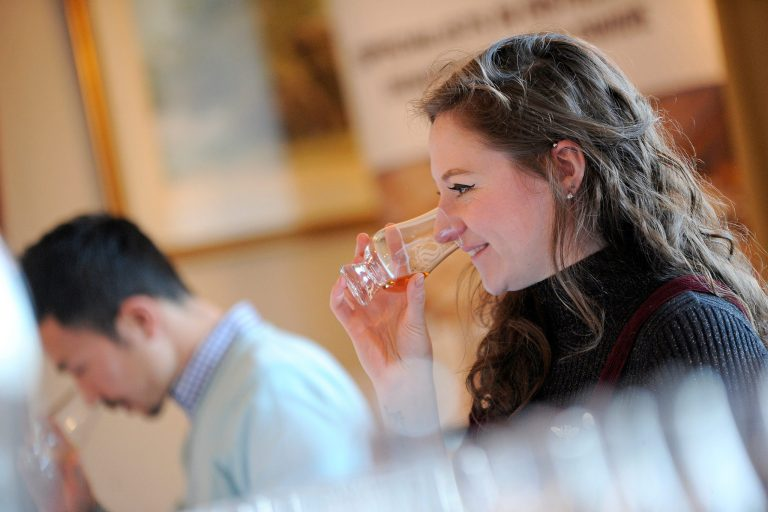 Nosing whisky at the Spirit of Speyside Whisky Festival © Scottish Provincial Press