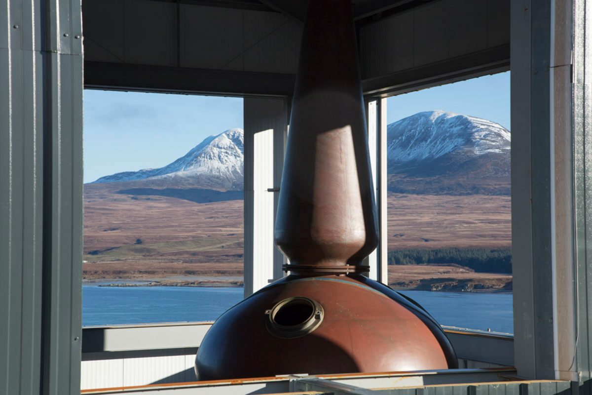Stunning views to the Paps of Jura from Ardnahoe Distillery, Islay