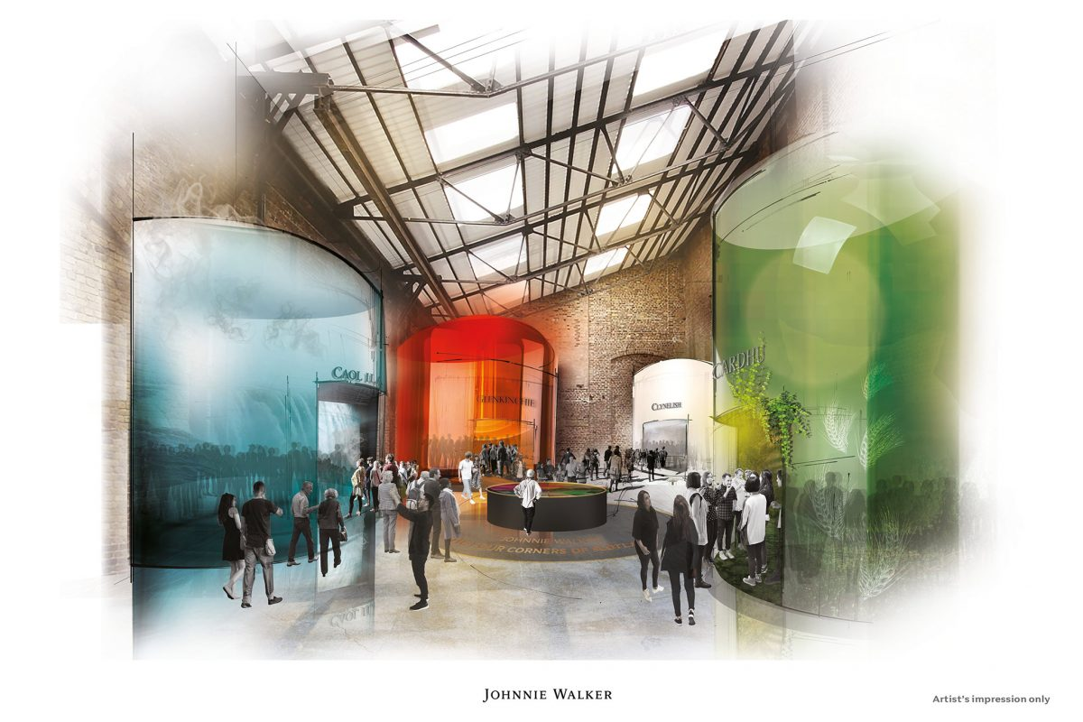 An artists' impression of the proposed Diageo Johnnie Walker Experience