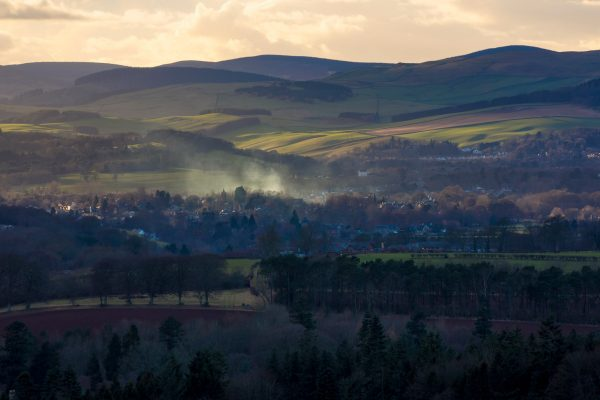 The view of Melrose from Scott's View, Scottish Borders