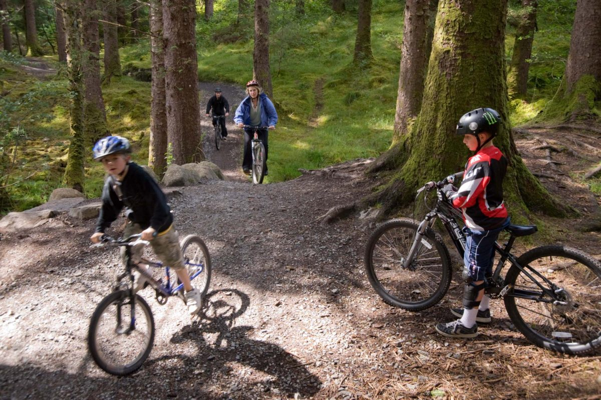 Mountain biking in Leanachan Forest, near Fort William