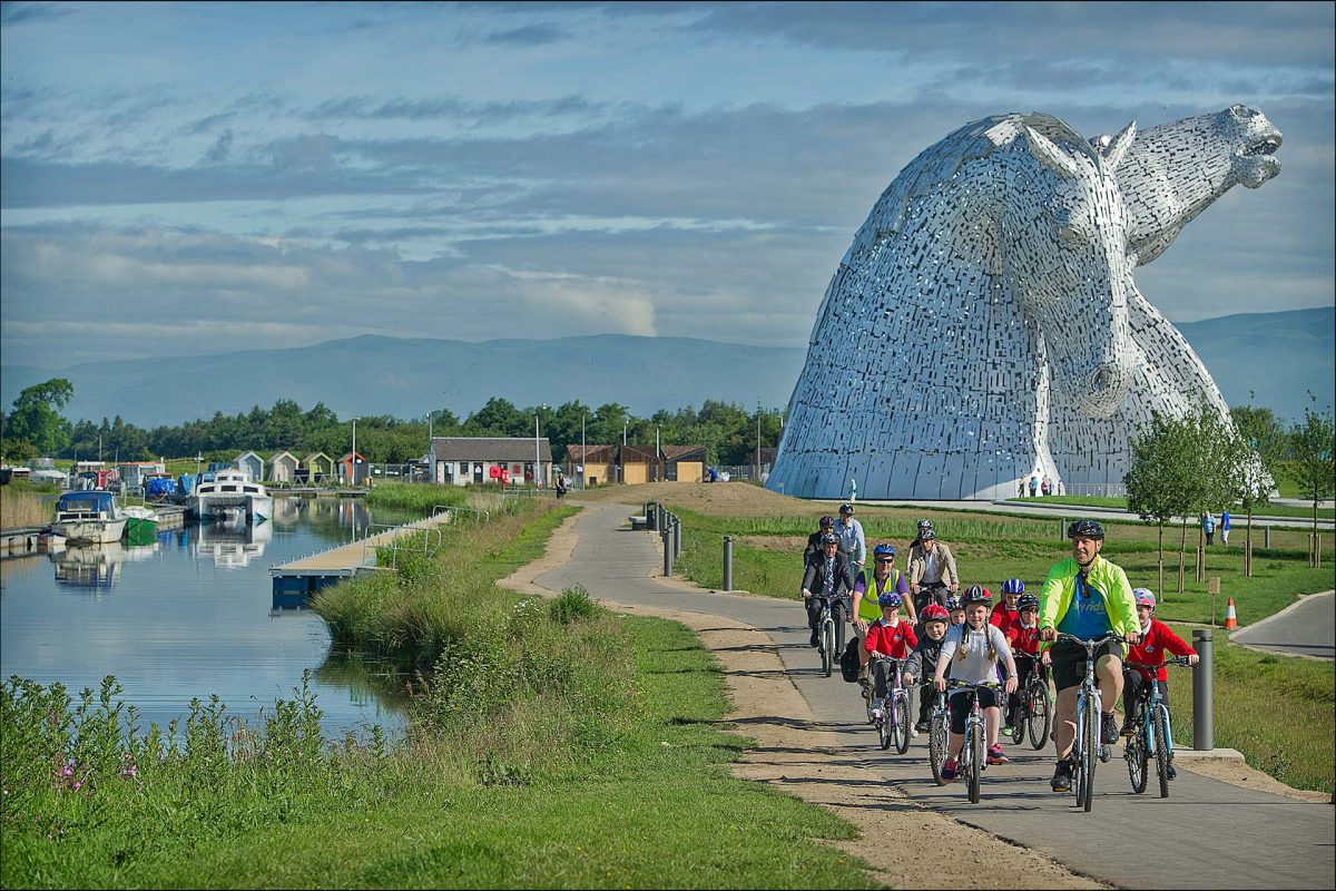 Helix Park and The Kelpies near Falkirk