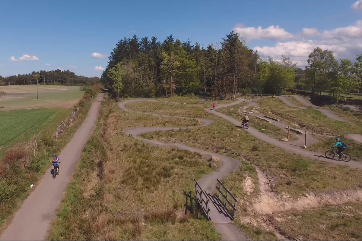 Mountain bike trails Callendar Estate Falkirk