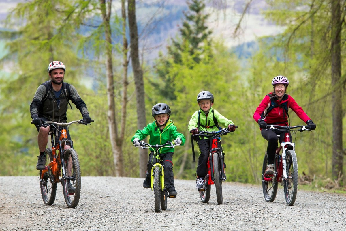 Family fun at 7stanes Glentress near Peebles, Scottish Borders