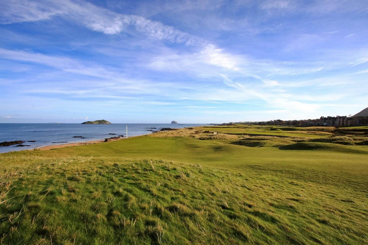 Looking towards the Bass Rock at North Berwick Golf Club © North Berwick Golf Club