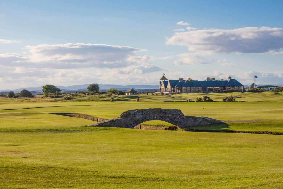 Swilcan Bridge at the Old Course in St Andrews