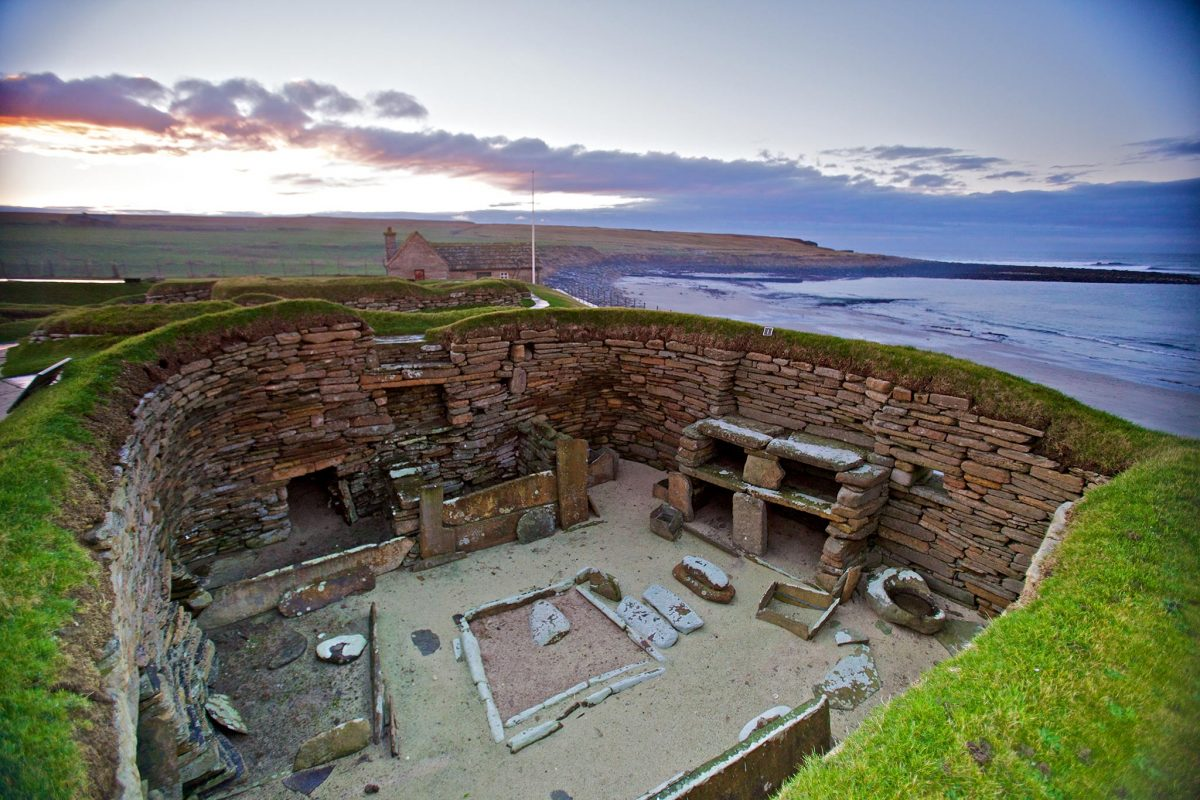 The neolithic village of Skara Brae