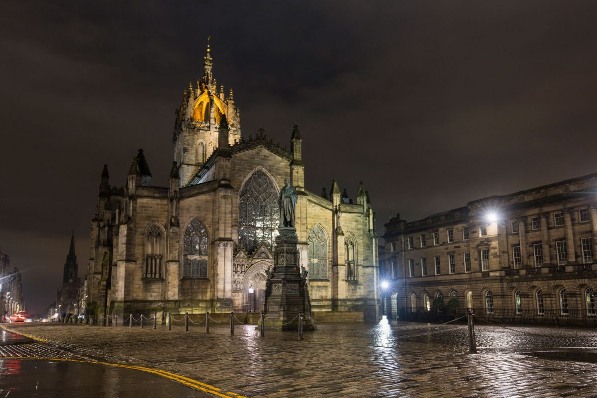St Giles Cathedral, The High Kirk of Edinburgh on The Royal Mile