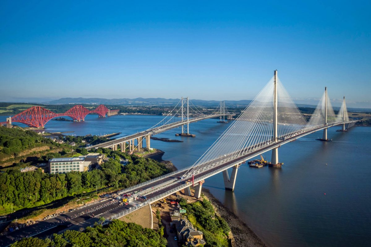 The Forth Bridge, Forth Road Bridge and Queensferry Crossing