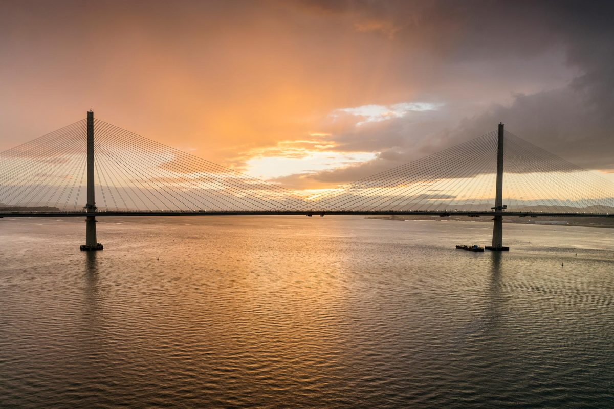 The Queensferry Crossing from the Forth Road Bridge