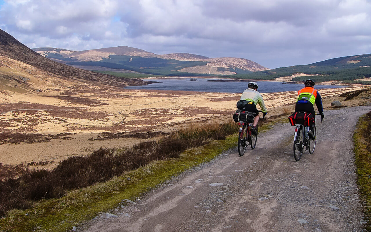 Cycling along Glen Trool in Dumfries & Galloway
