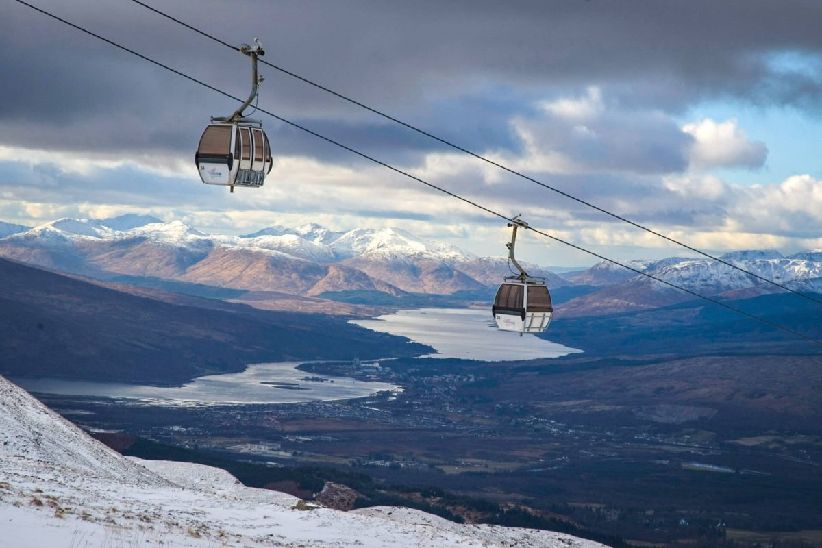 Die Gondel-Bergbahn der Nevis Range, Fort William