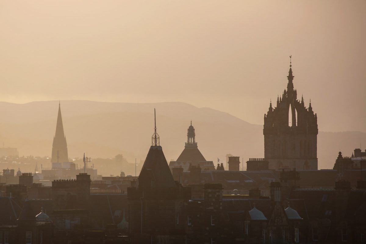 The Rooftops of Edinburgh