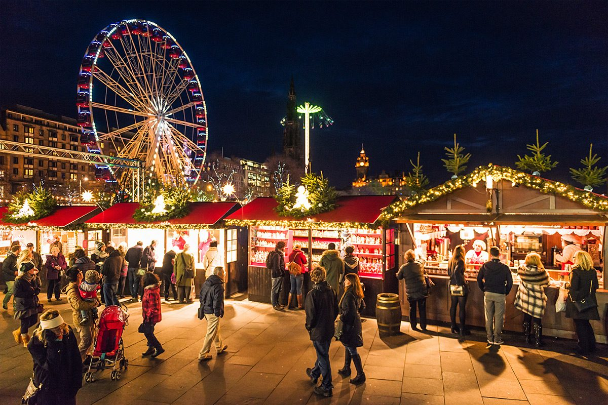 Edinburgh's Christmas markets © George Clerk