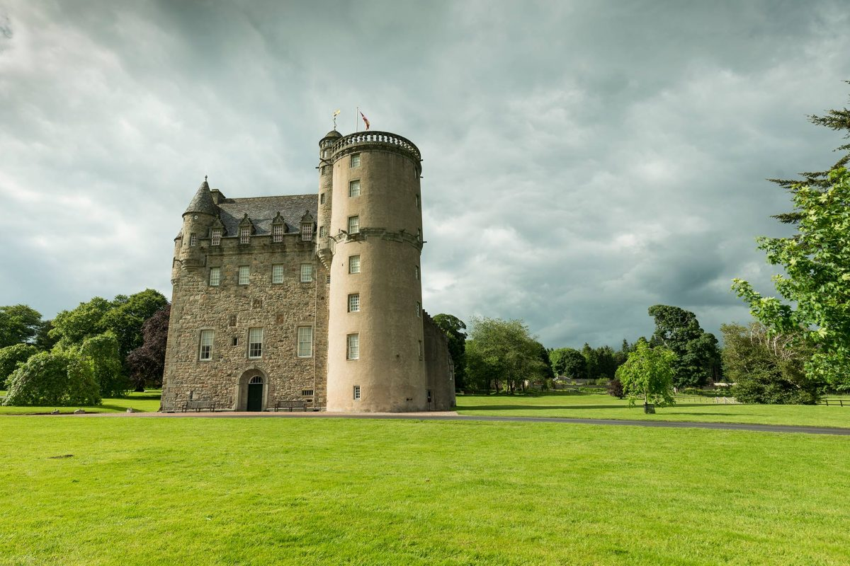 The tower of Castle Fraser