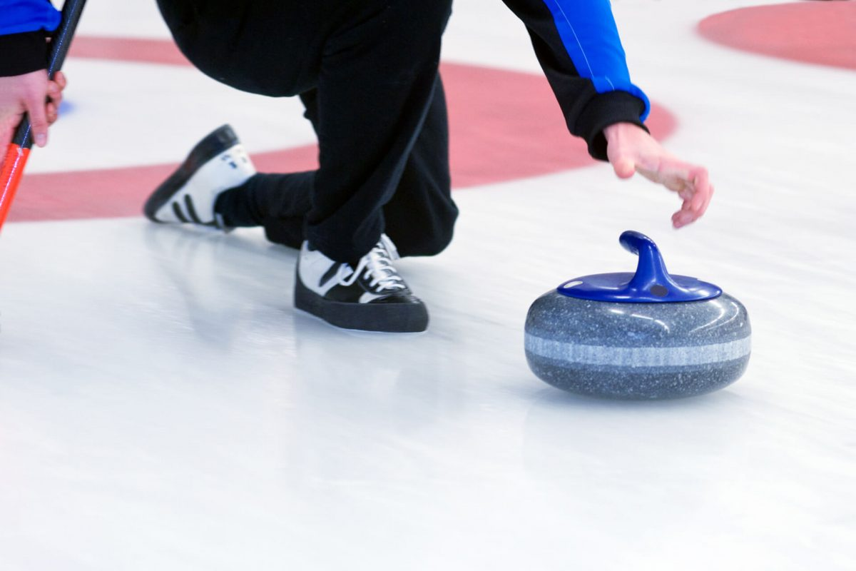 Indoor curling is a popular winter sport in Scotland
