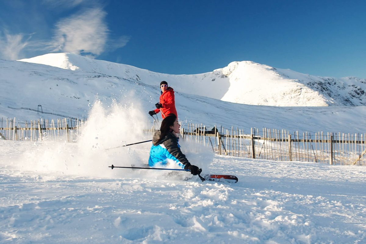 Learning to ski at Glencoe Mountain