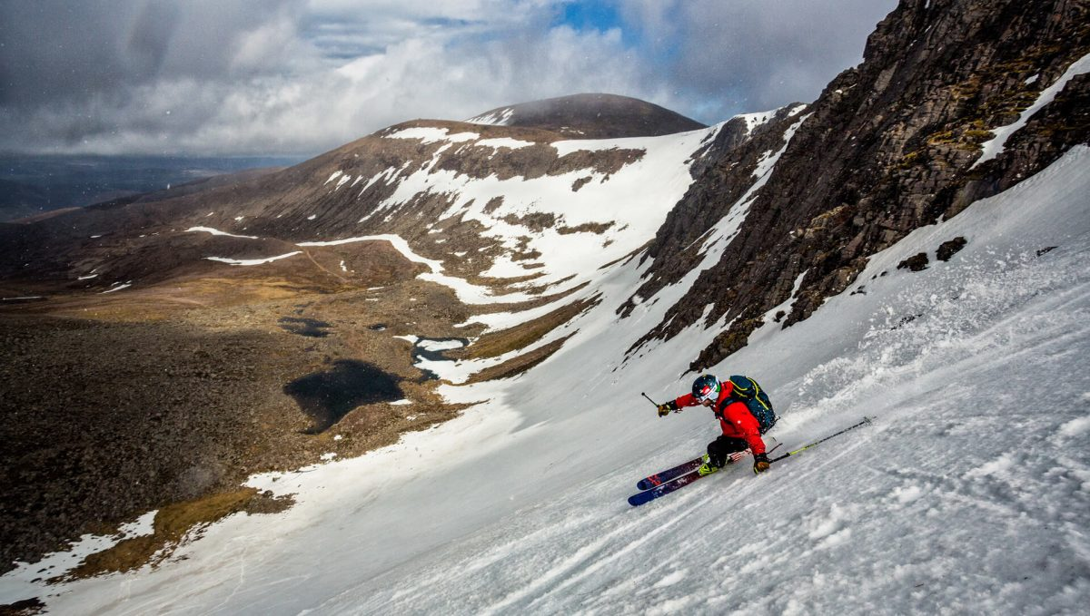 Backcountry skiing in the Cairngorms National Park