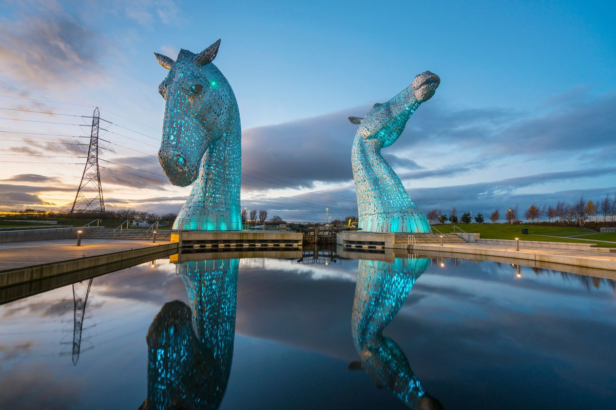 The Kelpies at The Helix Park, Falkirk