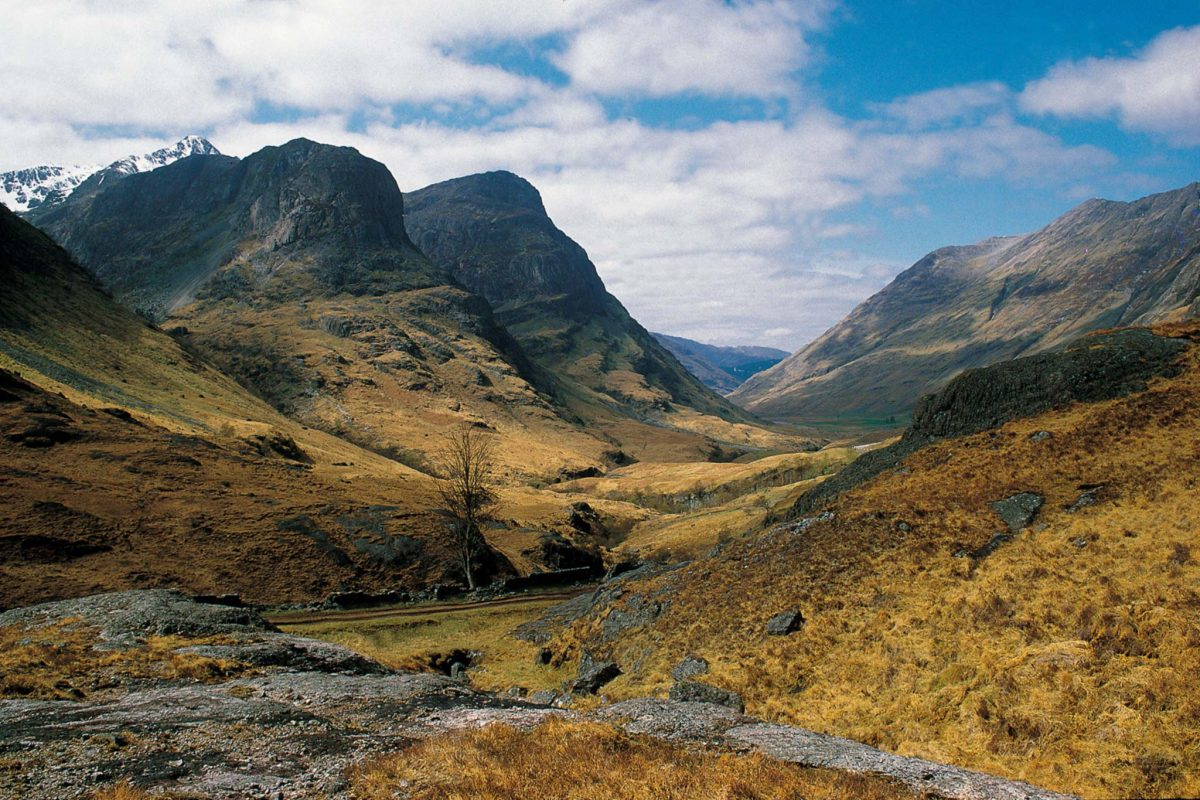 The dramatic mountains of Glen Coe