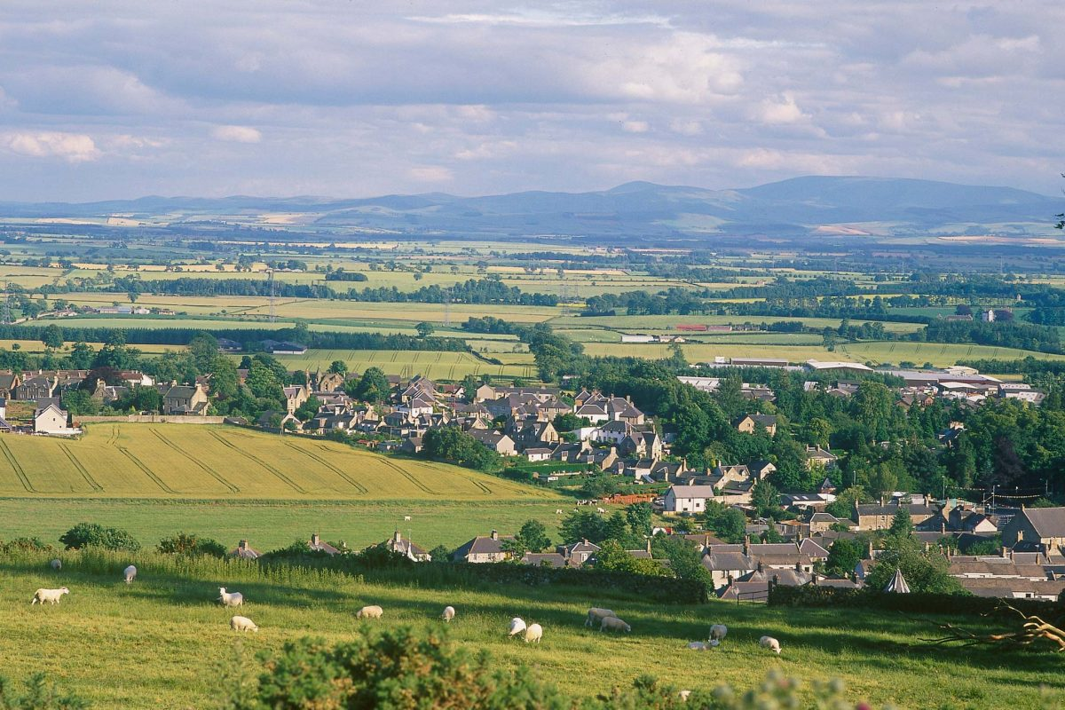 The small town of Duns in the Scottish Borders