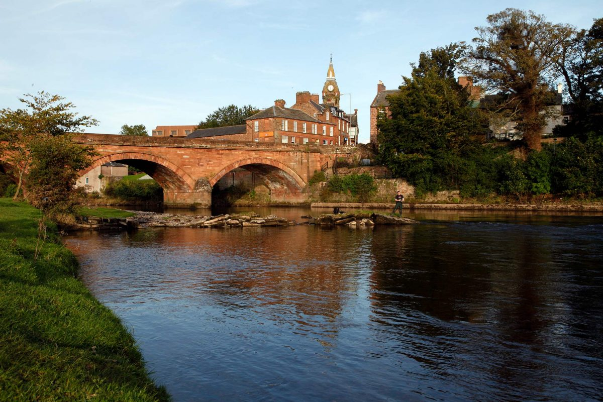 The town of Annan on the river Annan