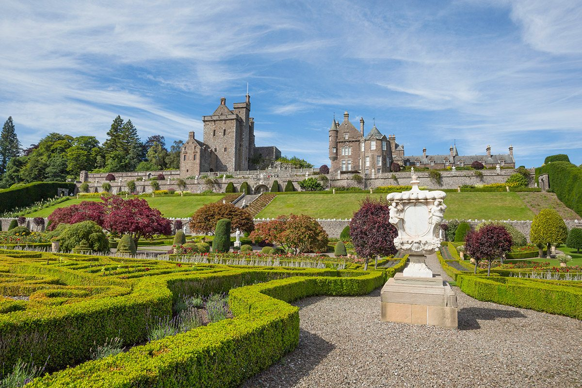 The formal gardens of Drummond Castle