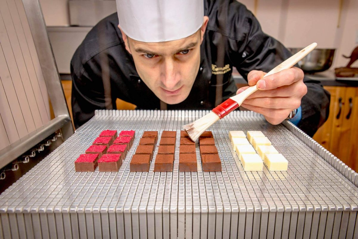 Highland Chocolatier Iain Burnett at work