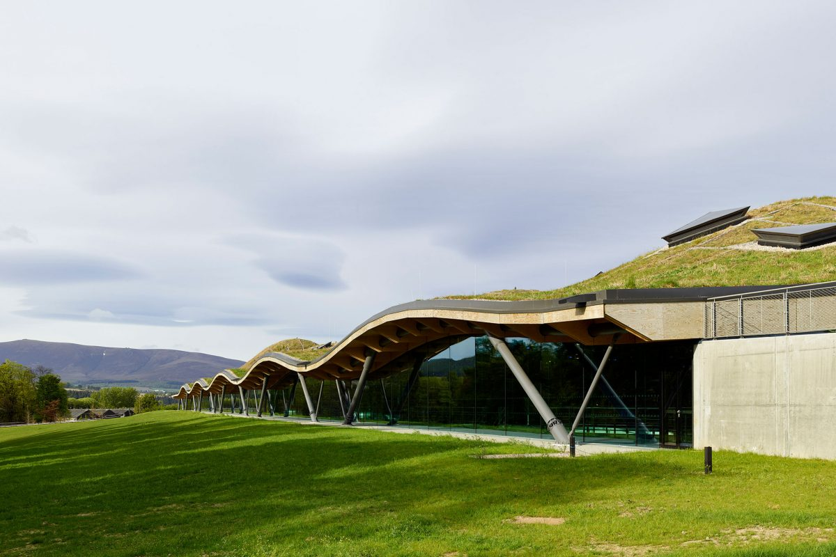 The exterior of the new Macallan Distillery, Speyside