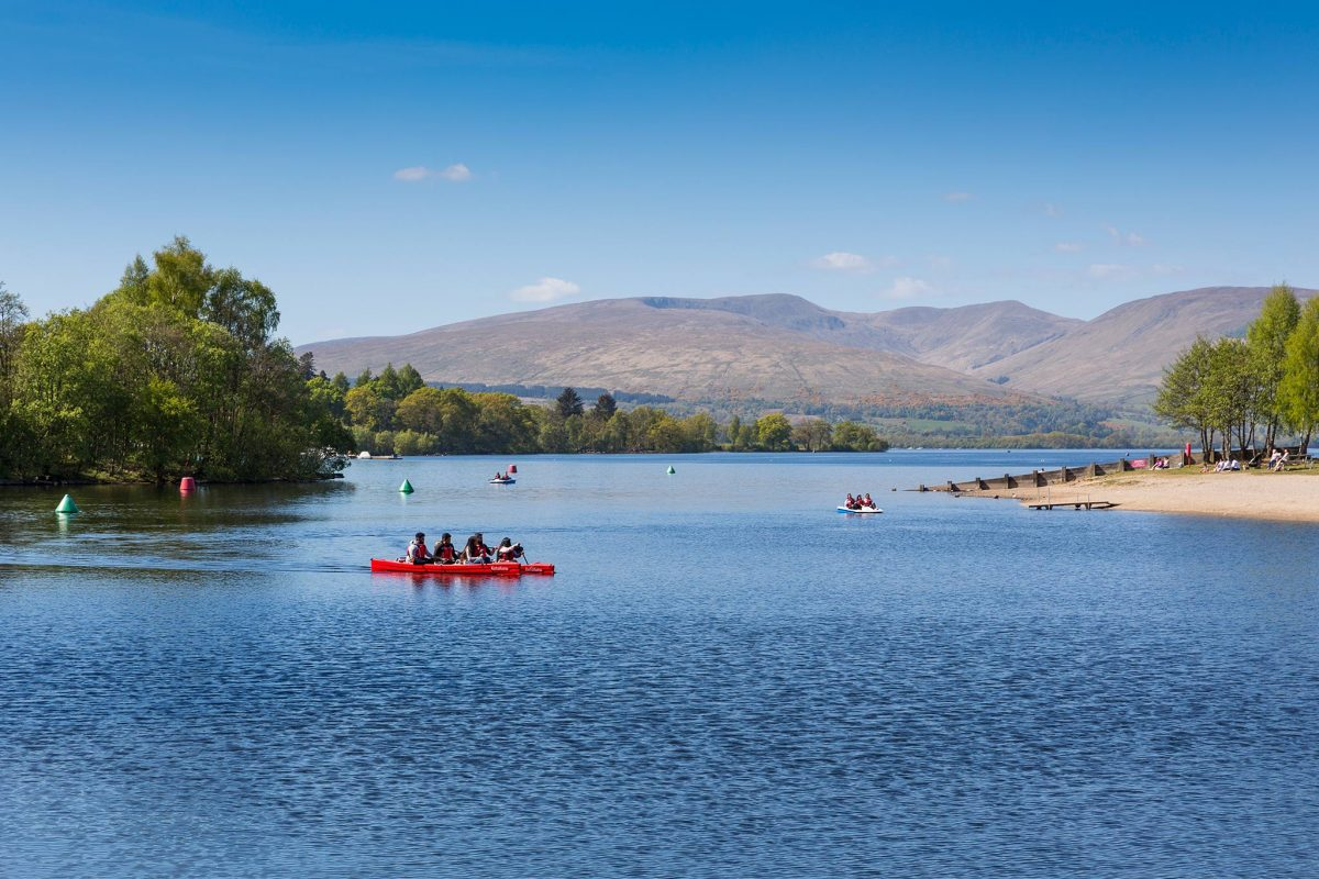 Pedal boat, canoe and bike hire at Loch Lomond Shores, Balloch