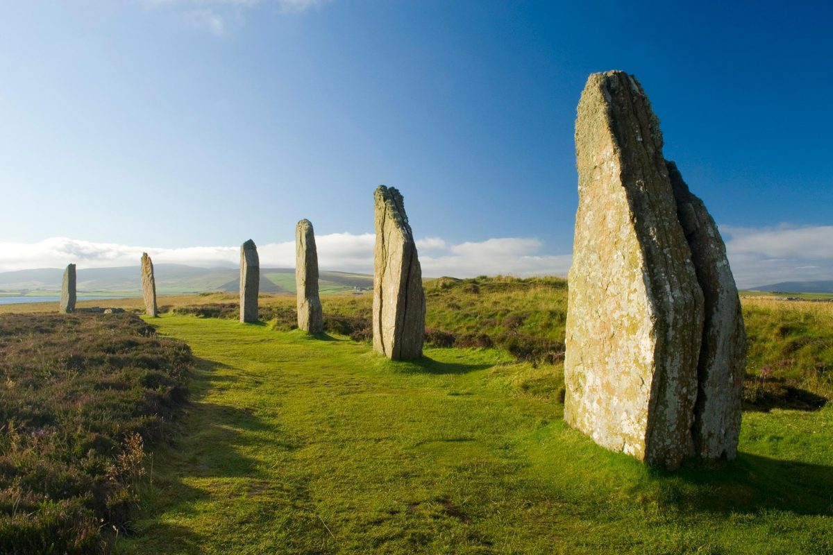 The ancient standing stones of The Ring of Brodgar, Orkney
